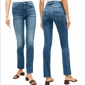 7 For All Mankind High Waisted Straight Leg Jeans